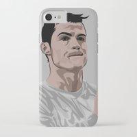 ronaldo iPhone & iPod Cases featuring Cristiano Ronaldo by siddick49