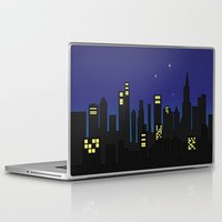 cityscape Laptop & iPad Skins featuring Cityscape by jozi.art