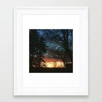 denmark Framed Art Prints featuring Denmark Sunset. by Jason Robinette
