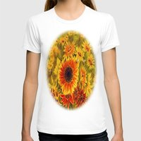 sunflowers T-shirts featuring SUNFLOWERS by Vargamari