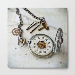 Mechanical Pocket Watch Metal Print