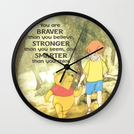 Christopher and Pooh Bear Wall Clock
