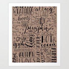 All Things Fall on Craft Art Print