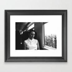 genoa to portofino by rail Framed Art Print