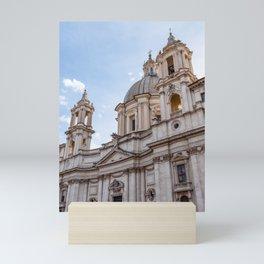 Sant Agnese Church in the Piazza Navona - Rome, Italy Mini Art Print