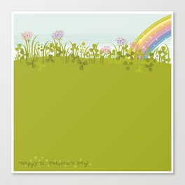 Sunny Day. Clovers. Canvas Print