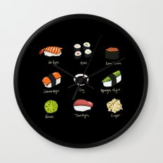 Sushi Days two Wall Clock