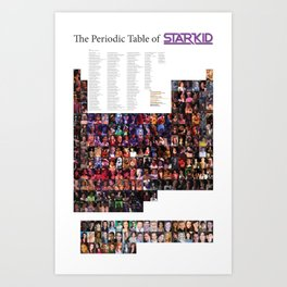 The Periodic Table of Starkid Art Print
