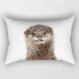 Baby Otter Portrait Rectangular Pillow