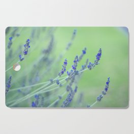 Close up of Lavender Flowers Cutting Board
