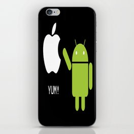 Android eats apple iPhone Skin