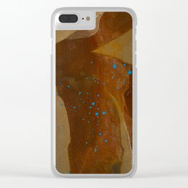 joelarmstrong_rust&gold_082 Clear iPhone Case
