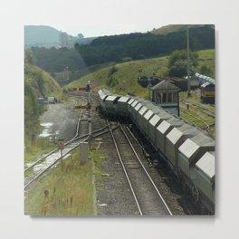 Silver Train Metal Print