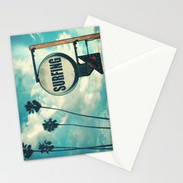 Surfing Sign Stationery Cards
