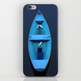 Blue rowboat iPhone Skin