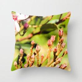 Petal Buds Throw Pillow