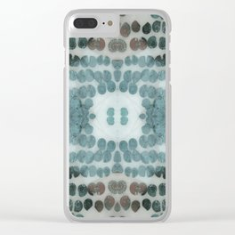 Sea Shell Disco Turquoise Clear iPhone Case