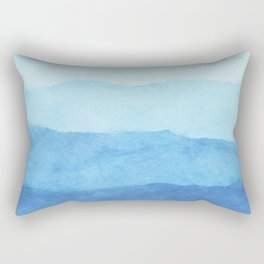 Ombre Waves in Blue Rectangular Pillow