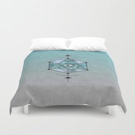 Sacred Geometry Eye Of Protection Duvet Cover