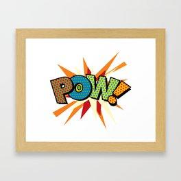 Comic Book Pop Art Sans POW! Framed Art Print