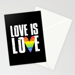 Vintage Love Is Love - White Stationery Cards