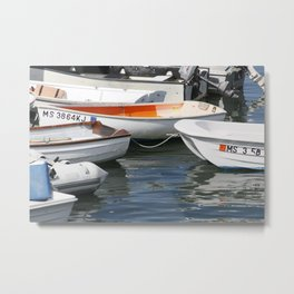 Flock Of Rowboats Metal Print