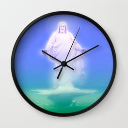 On a Clear Day ... By LadyShalene Wall Clock