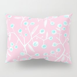 skyberries in pink forest Pillow Sham