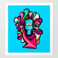 foo fighters Art Prints featuring Foo by Shana-Lee