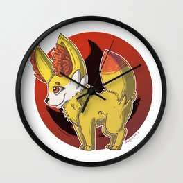 Fennekin Wall Clock