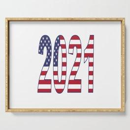2021 American Flag USA Patriot Serving Tray