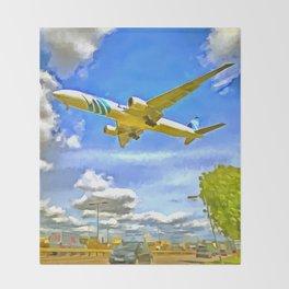 Airliner Pop Art Throw Blanket