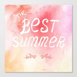 The best summer poster Canvas Print