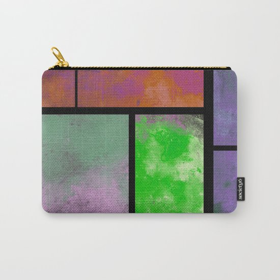 Textured Windows - Modern, abstract, textured painting Carry-All Pouch