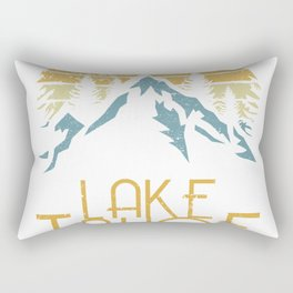 Vintage Lake Tahoe California Nevada Retro Hoodie Rectangular Pillow