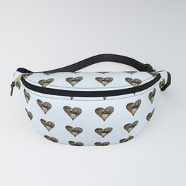 cute kitten in a heart 1-  Leon Huber - A basket full of cat Fanny Pack