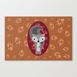 Squirrel with Paw Prints Canvas Print