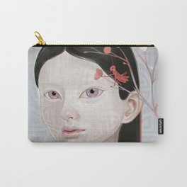 Japanese Black Blossom Carry-All Pouch