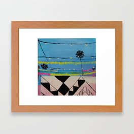 Abbot Kinney Blvd in Lights - Los Angeles California Framed Art Print