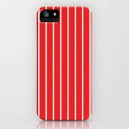 Holiday Hexies Red Stripe iPhone Case