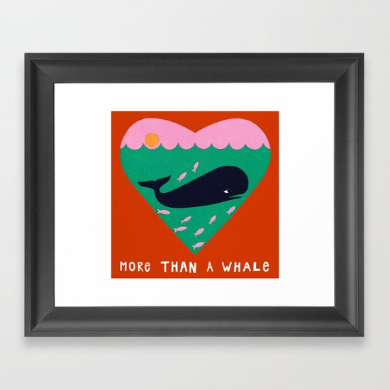 My love is bigger than a whale! Framed Art Print