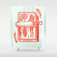 fish Shower Curtains featuring Little Fish by Karl James Mountford
