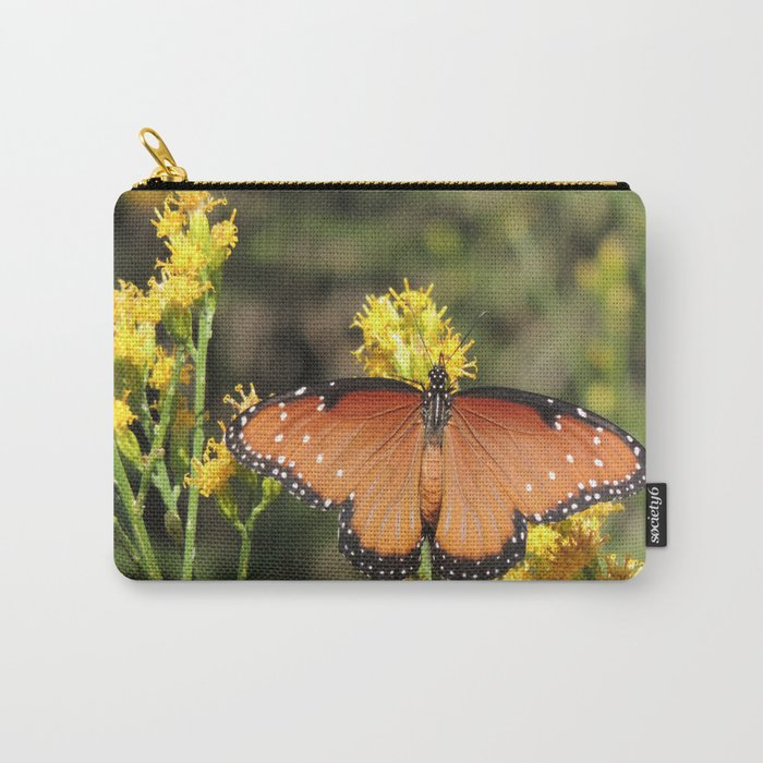 Queen Butterfly on Rubber Rabbitbrush in Claremont CA Carry-All Pouch