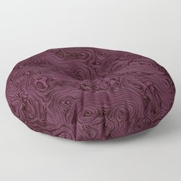 Royal Maroon Silk Moire Pattern Floor Pillow