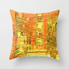 A waved skyscraper Throw Pillow