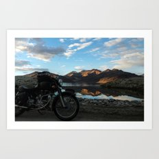 Lonely rider in the evening light...  Art Print