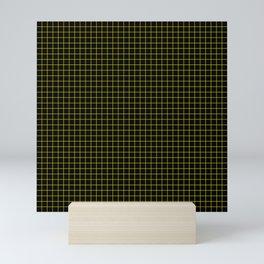 Dark Yellow Grid Mini Art Print