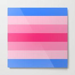 Trans Woman Flag Metal Print