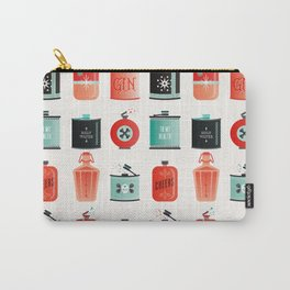 Flask Collection – Red & Turquoise Palette Carry-All Pouch