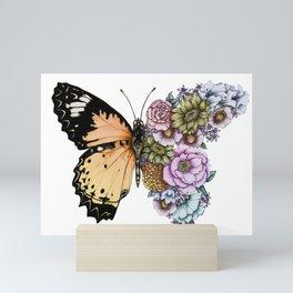 Butterfly in Bloom II Mini Art Print